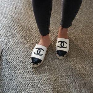 Chanel Espadrille Mules 2018 sz 38